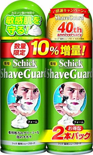 シック Schick 薬用シェーブガード シェービングフォーム Wパック 増量品