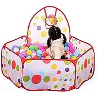 ABSTEPS おもちゃテント - 大きな子供用 子供用 海のボールピット プールゲーム プレイテント ボールフープ 屋内 屋外 ガーデン プレイハウス 折りたたみ式 子供用 バスケットテント 1個