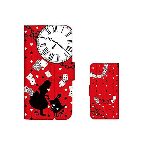 【SIMPLY】 iPhone7 手帳型ケース/スマホケース スマホカバー 【アリス トランプ】 手帳型 ケース 手帳ケース アイフォン7 docomo au SoftBank /Gパターン