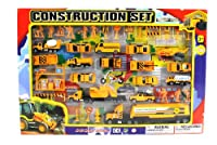 Metro Complete Construction Crew 43 Piece Mini Toy Diecast Vehicle Play Set, Comes with Street Play Mat, Variety of