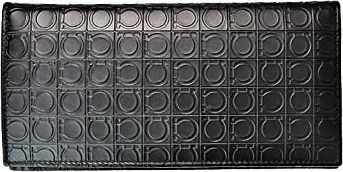 Ferragamo 【フェラガモ】 レザー オープン開閉式長財布 66-9413 /01 CAFFE ダークブラウン 茶色