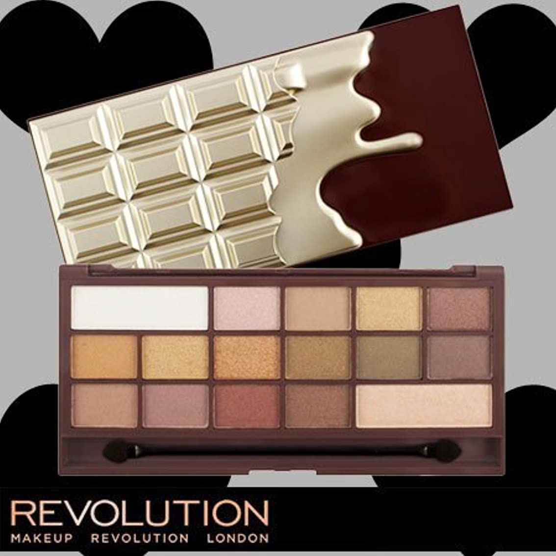 占める認知小康メイクアップレボリューション アイラブメイクアップ アイラブチョコレート #ゴールデンバー 16色アイシャドウパレット -MAKEUP REVOLUTION-