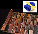 sac taske はがせる 壁紙シール &取付道具 & 貼り方説明書 セット かんたん DIY (アンティコ)