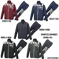 【アシックス】ウインドジャケット&パンツ 上下セット/ウィンドブレーカー (XAW723 XAW823) 9091×90A ブラック×ダークグレー/ブラックA S