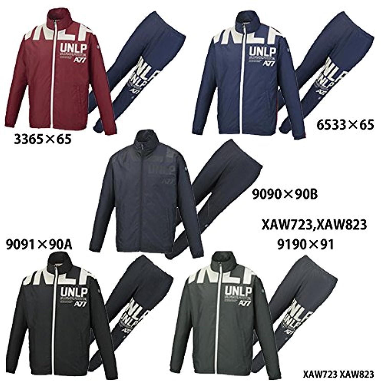 【アシックス】ウインドジャケット&パンツ 上下セット/ウィンドブレーカー (XAW723 XAW823) 6533×65 ミッドナイトブルー×ワイン/ミッドナイトブルー S