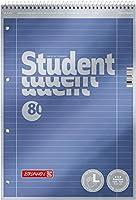 Brunnen 1067111 メモ帳/学生プレミアム左利き万年筆セット処理カバー メタリック効果 A4 リニアート27 90 g/m2 80ページ スパイラル付き