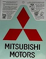 ステッカー MITSUBISHI MOTORS 赤/黒