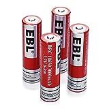 EBL リチウム充電池 3.7V 4個パック 3000mAh Li-ion充電池ケース付き