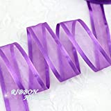 FairyMood (10 ヤード/ロット) 1 '' (25 ミリメートル)紫舷側オーガンジー リボン卸売ギフトラッピング装飾リボン