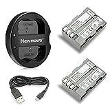 Newmowa EN-EL3E 互換バッテリー 2個+充電器 対応機種 Nikon EN-EL3E Nikon D50 D70 D70s D80 D90 D100 D200 D300 D300S D700