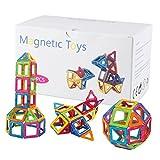 幾何学認知 磁石ペース80モデルDIY 子どもおもちゃ 積み木 四角、三角、長三角、車輪 - 創意プレゼント想像力を育てる知育玩具 (38)