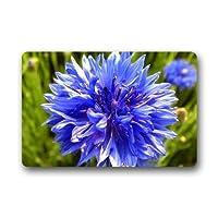 自然の美しい紫青花の創造的な家の装飾の敷物長方形サイズ:18 x 30、多機能屋内屋外玄関マット 80x50cm