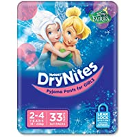 Huggies DryNites, Girls, Size 2-4 Years (Pack of 33)