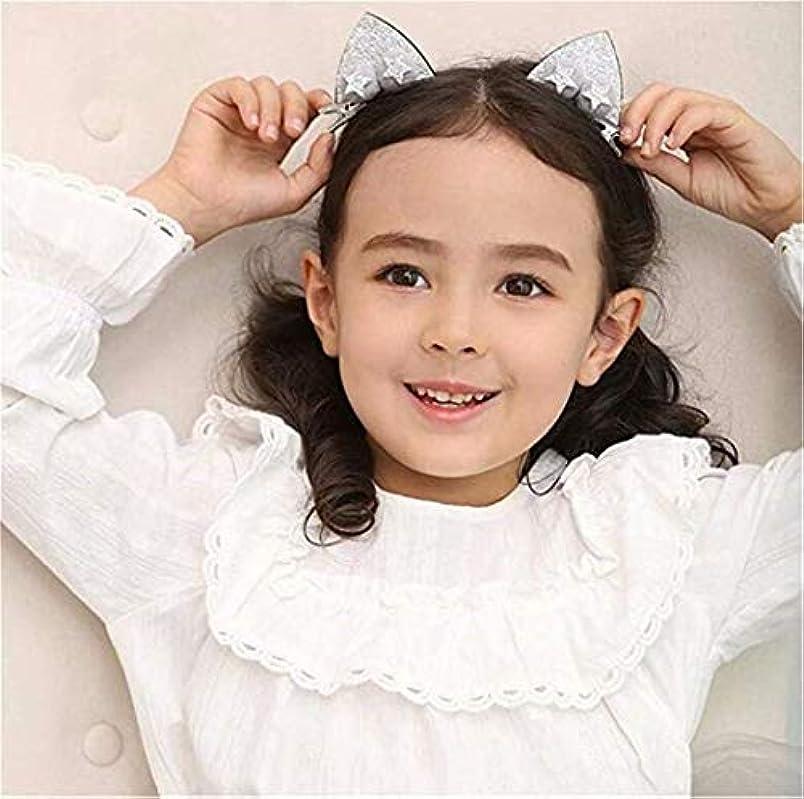 服を洗う密輸漏斗七里の香猫のイヤリングヘアクリップ キッズヘアピン 子供の頭の飾り