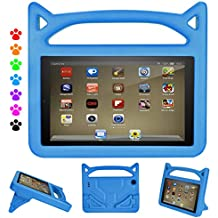 F i r e HD 8 Tablet Case for Kids-Dinines Shock Proof Light Weight Kid Proof Case for All A m a z o n F i r e 8 inch Tablet (8th Generation 2018 /6th Generation 2016/7th Generation 2017) (Blue)