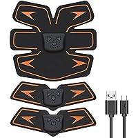 EchoAMZ EMS 腹筋ベルト USB充電式 腹筋 腕筋 筋トレ器具 トレーニングマシーン 「6種類モード 10段階強度 日本語説明書付属」