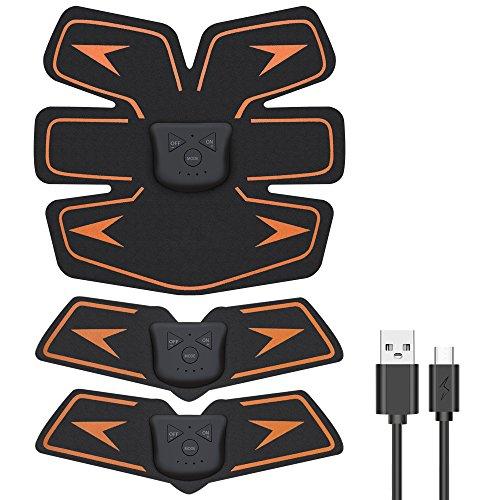 EchoAMZ EMS 腹筋ベルト USB充電式 腹筋 腕筋 筋トレ器具 ト...