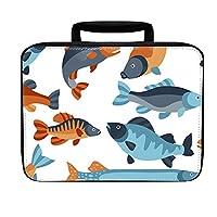 明るい魚パターンInsulatedランチボックスバッグ