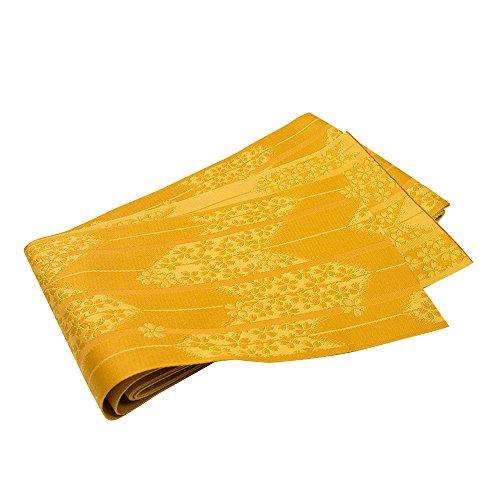 (キョウエツ) KYOETSU 日本製 半幅帯 浴衣帯 地紋/柄 お任せ (金茶)