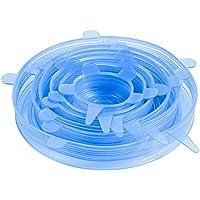 ORIA シリコンラップ 密閉蓋 再利用 シリコン蓋 貯蔵カバー 変形自在 耐冷耐熱 密閉 調理 貯蔵 FDA承認済BPAフリー 食器 お皿 カップ ボウル 保存容器 6個セット