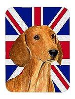 Caroline 's Treasures Dachshund with英語ユニオンジャックイギリス国旗マウスパッド/ホットパッド/五徳( ss4929mp )