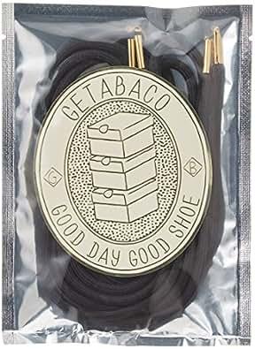 [ゲタバコ] 靴ひも Metal Tip Rope Laces GTBC037 Black X Gold 120cm