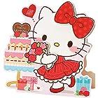 誕生日 ボイス付き キティとバラの花束 P486