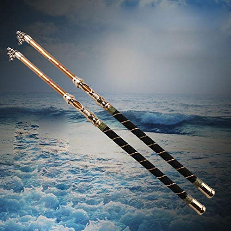 逆さまにズームインする邪魔純粋なカーボン海極スーパーハード2.12.42.7 M 3.03.6メートルの長い釣り竿、2.4メートル