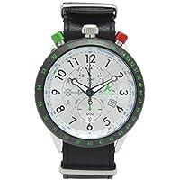 [アンペルマン]AMPELMANN 日本製 腕時計 メンズ クロノグラフ 回転式 24時間表示 シルバー AKS-4974-02 メンズ
