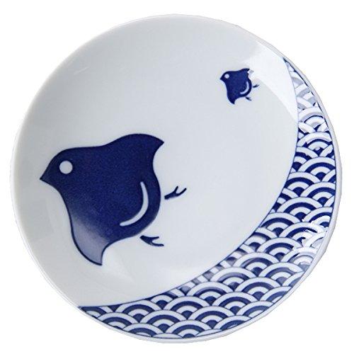 日本の伝統紋様をモダンにアレン KIHARA(キハラ) KOMON豆皿(1枚) 波千鳥
