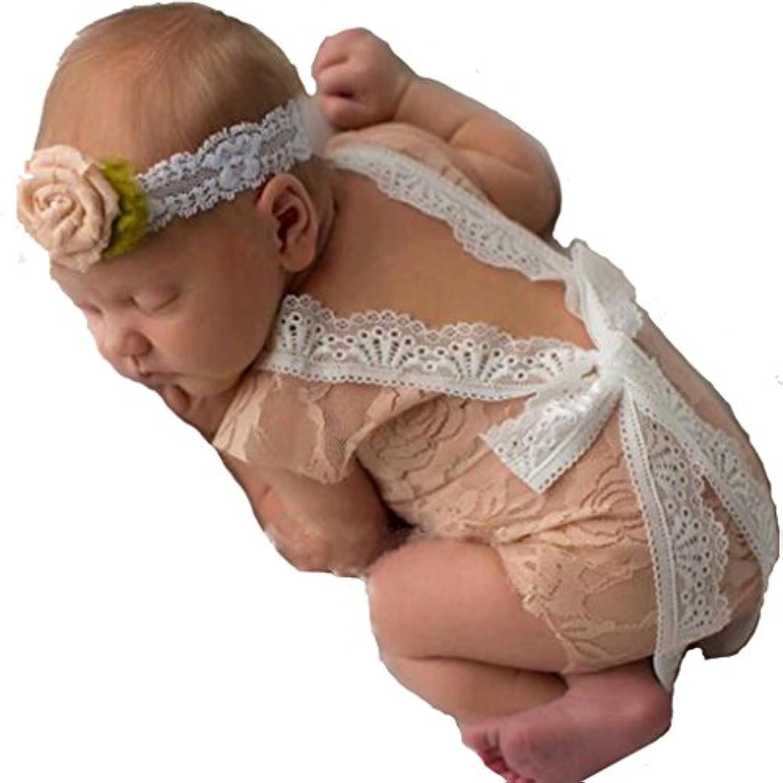 新しいBorn赤ちゃん服レースロンパース