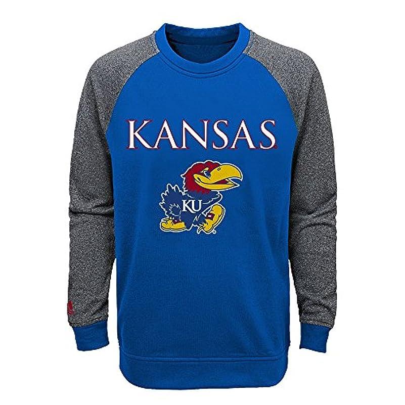 コロニアル出席全国Outerstuff Kansas Jayhawks NCAA PrimaryチームロゴクルーネックスウェットシャツYouth ( S - XL )