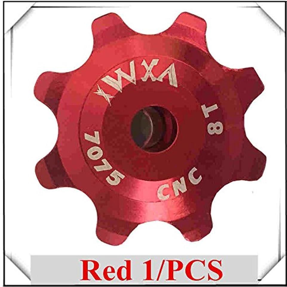 角度特性ママPropenary - Bicycle Ceramics Jockey Wheel Rear Derailleur Pulley 8T 7075 Aluminum alloy Cycling guide pulley bearing bicycle parts [ Red ]