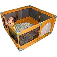 ポータブルベビープレイペン子供の子供は、再生ペンルームディバイダーオックスフォードクロス8サイドパネルボーイアクティビティセンターホーム屋内アウトドア (色 : Orange)