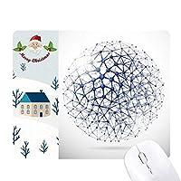 原子構造の物理的なイラスト サンタクロース家屋ゴムのマウスパッド