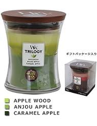 Wood Wick ウッドウィック トリロジージャーキャンドルMサイズ アップル
