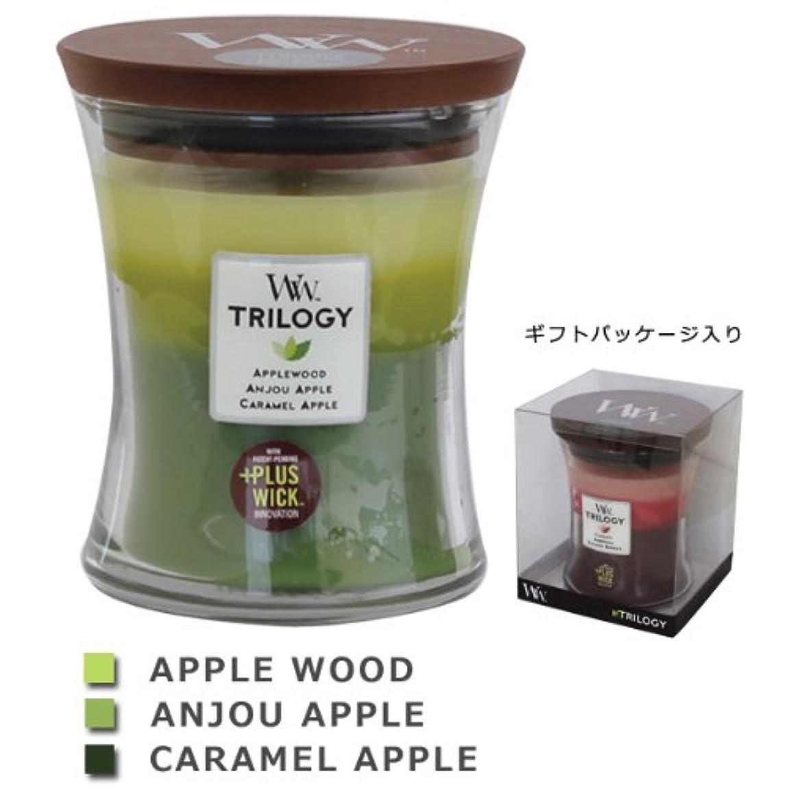 論理的に習字竜巻Wood Wick ウッドウィック トリロジージャーキャンドルMサイズ アップル
