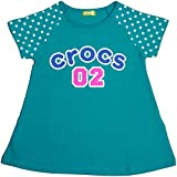 crocs ガールズ ガールズキッズトップス半袖[Crocs(クロックス)]女の子ドット柄Tシャツ|綿100% 110cm グリーン