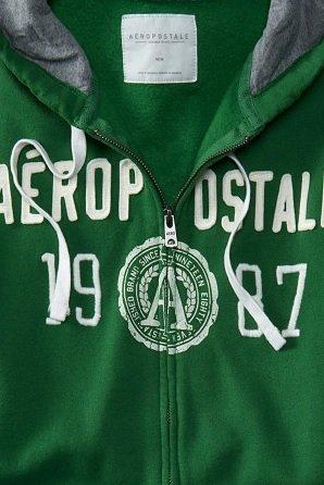 (エアロポステール)AEROPOSTALE パーカー Aéropostale Original Logo Full-Zip Hoodie パームグリーン Palm Green (XL) [並行輸入品]