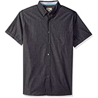 Haggar Mens 555041 Short Sleeve Shirt with Chambrey Trim Short Sleeve Button Down Shirt - Multi