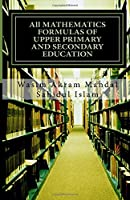 All Mathematics Formulas of Upper Primary and Secondary Education
