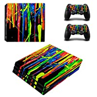 Zhhlaixing 高品質の Vinyl Skin Sticker Replace for PlayStatio PS4 Pro Console+Controllers Decal Case ZY0349