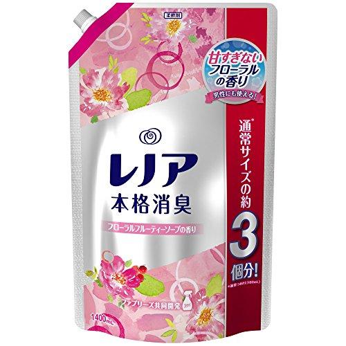 【大容量】 レノア 本格消臭 柔軟剤 フローラルフルーティーソープ 詰め替え 超特大 1400mL