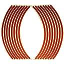 ホイールリムステッカー 17インチ/18インチ両用タイプ (赤 レッド)