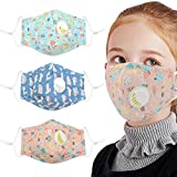 B bangcool 3PCS Mouth Mask Cute Cartoon Print Dustproof Cotton Mask for Baby Kids Anti dust mask