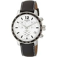 [ティソ] TISSOT 腕時計 クイックスター クオーツ クロノグラフ シルバー文字盤 レザー T0954171603700 メンズ 【正規輸入品】