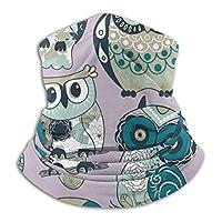Owls-1 フェイスマスク ネックウォーマー フェイスカバー スポーツタイプマフラー ヘッドバンド 帽子 秋冬 防寒 防風 バイク アウトドア ネック保温性 伸縮性よく 男女兼用