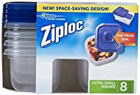 Ziploc One Press Seal Extra Small Square Container - 8 ct by Ziploc