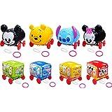 【ビニール玩具】おさんぽディズニーキャラクター&キャラバス 8種入 ハンドエアーポンプセット