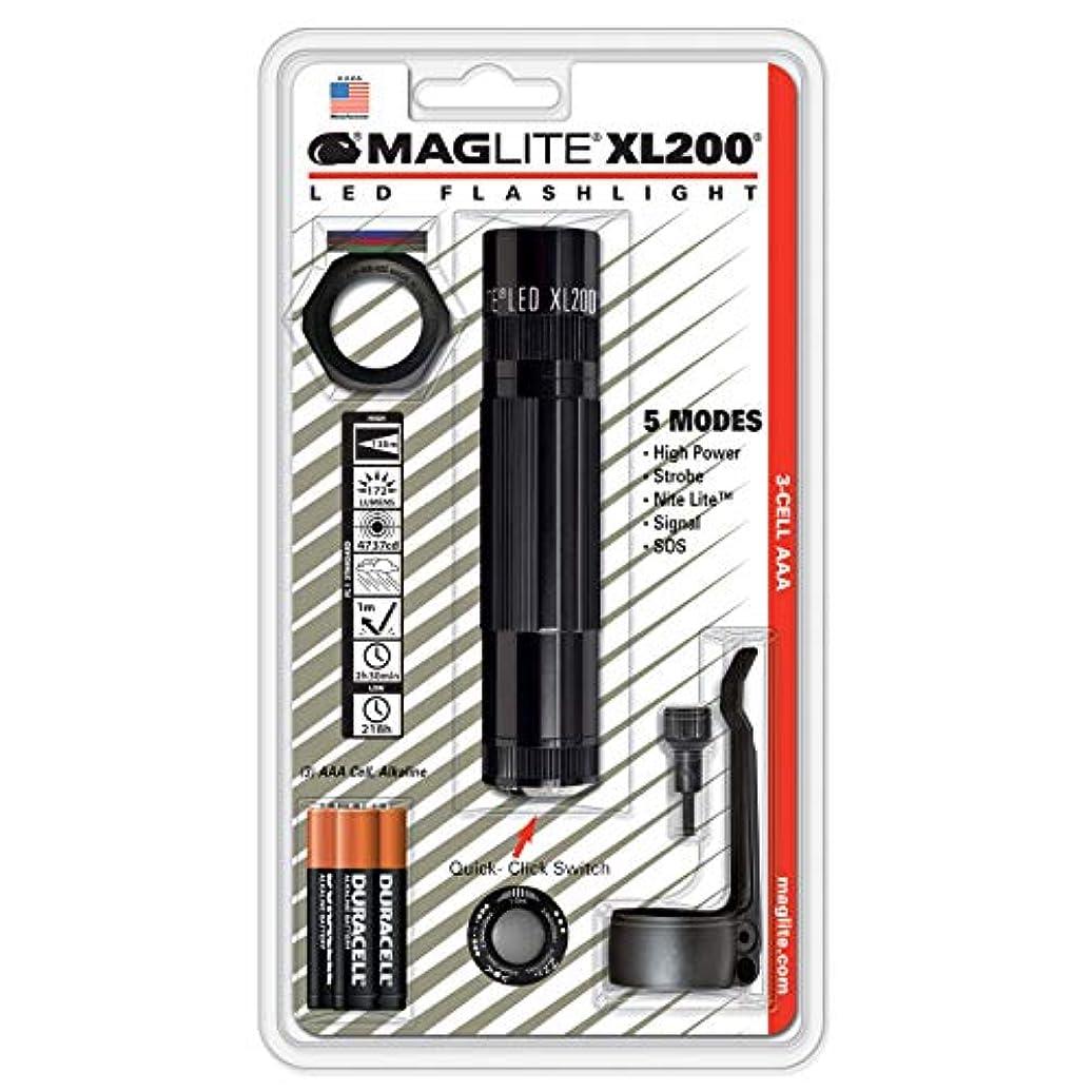 省略する性能辞任本体色:ブラック【明るさMAX:172ルーメン / タクティカル?クリップ、アンチロール?レンズ?カバー、フィルター同梱モデル 】:MAGLITE XL200 LED Flashlight : XL200-S301C
